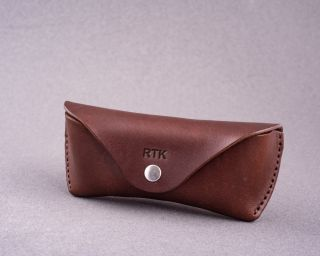 Handmade Leather Sunglasses Case For Ray-Ban With Full Lining, Size M