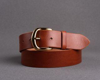 Mens Belt, Leather Mens Belt, Handmade Leather Belt, Cognac Mens Belt, Size M