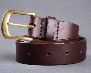 Mens Belt, Leather Mens Belt, Handmade Leather Belt, Trousers Belt, Choco Leather Belt, Size M
